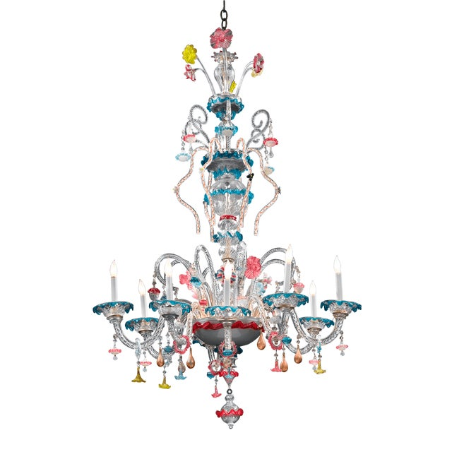 Venetian Murano Glass Chandelier - Image 4 of 4