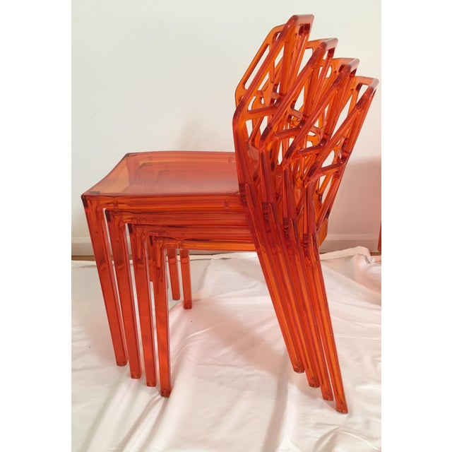 Calligaris Alchemia Dining Chairs in Orange - Set of 12 For Sale In New York - Image 6 of 13