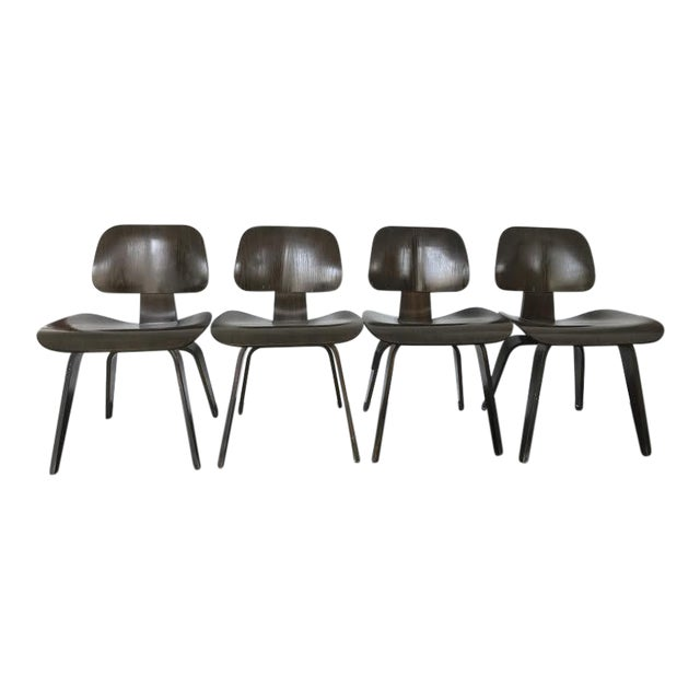 Eames Molded Plywood Dcw Dining Chairs - Set of 4 - Image 1 of 9