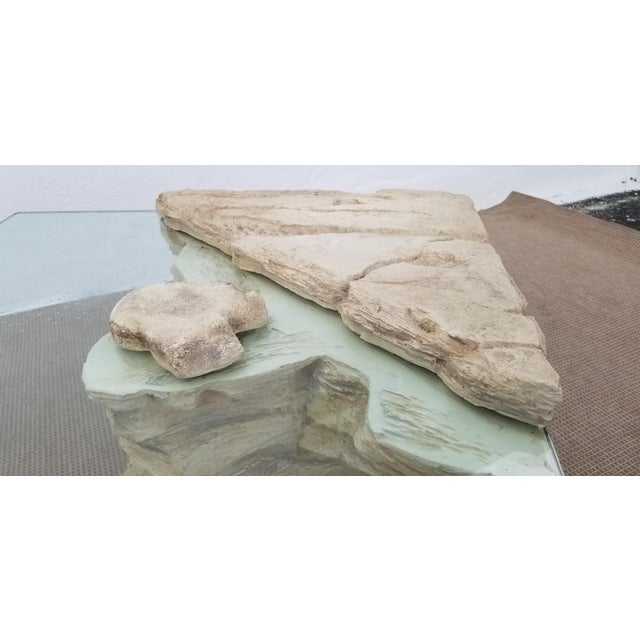 Sirmos Faux Rock Plaster Side Tables - a Pair For Sale In Miami - Image 6 of 13