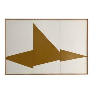 "Original Acrylic Painting ""Khaki on Point Triptych Jet0495"""