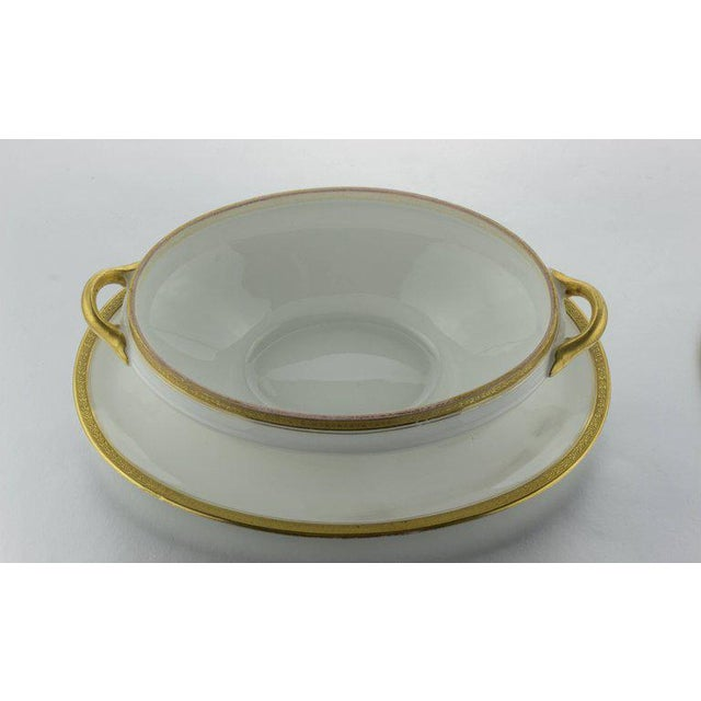 Limoges Cover Sauce Bowl With Platter - Image 7 of 10