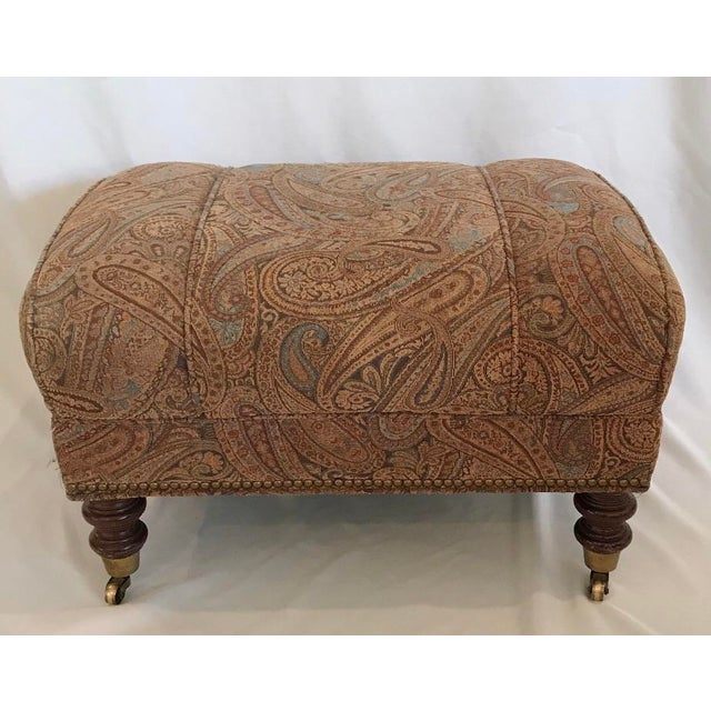 1970s Vintage Mid Century Upholstered Ottoman by Sherrill Furniture For Sale - Image 5 of 5