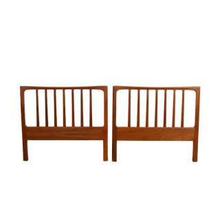 1960s Swedish Modern Folke Ohlsson for Dux Teak Headboards - a Pair For Sale