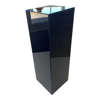 Custom Pedestal Black Lucite - Floor Sample For Sale