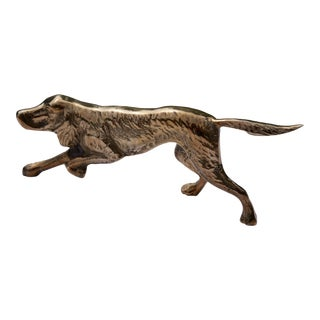 Vintage Brass Dog Figurine
