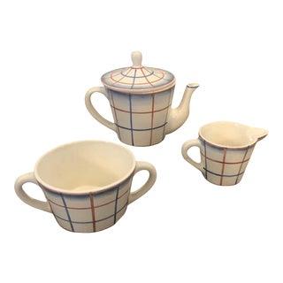 1930s Italian Art Deco Gio Ponti for Richard Ginori Ceramic Tea Set - Set of 3 For Sale