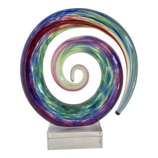 Glass Sculptural Spiral For Sale