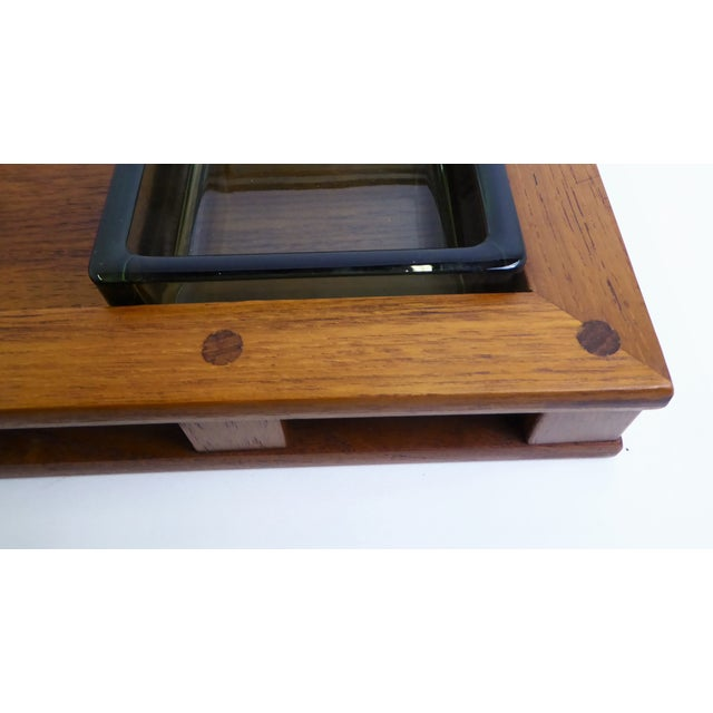 Jens Harald Quistgaard Dansk IHQ Modern Teak Tray with Glass Inserts, Quistgaard, Denmark For Sale - Image 4 of 13