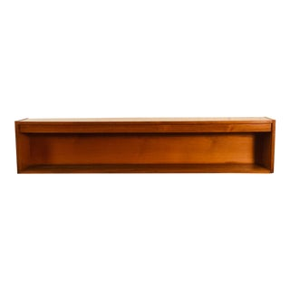 Mid Century Teak Wall Shelf With Light For Sale