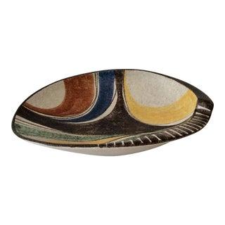 1950s Mid-Century Modern Ruscha Milano Ceramic Centerpiece Bowl