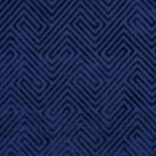 Scalamandre Meander Velvet in Navy For Sale
