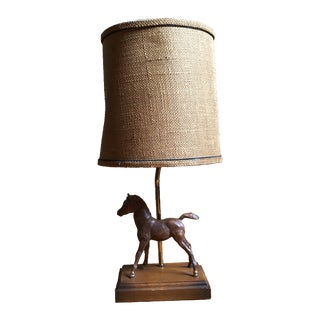 Mid-Century Equestrian Pony Horse Table Lamp For Sale
