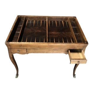 19th Century Antique Walnut Game or Side Table For Sale
