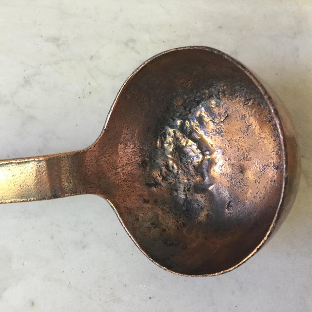 Late 19th Century 19th Century French Copper Ladle, Dehillerin Paris For Sale - Image 5 of 6