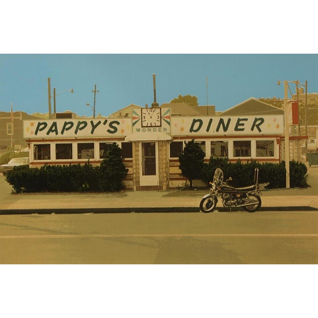 John Baeder (American, b. 1938) Pappy's Diner, 1980 screenprint. Pencil signed and dated lower right, edition 234/250....