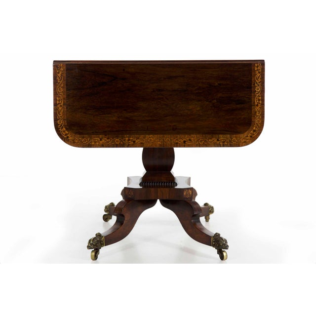 19th Century English Regency Antique Sofa Table For Sale - Image 6 of 13