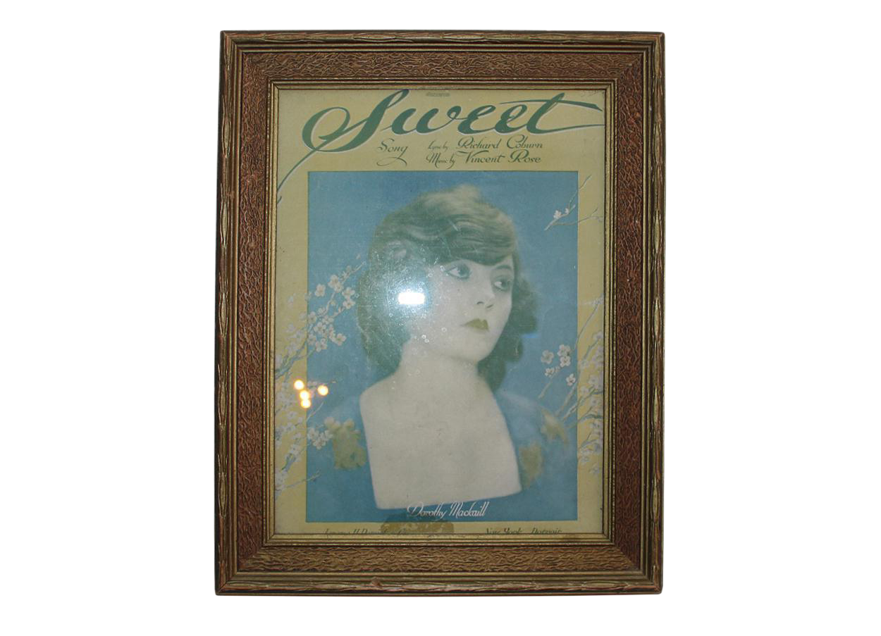 Framed Vintage Quot Sweet Quot Sheet Music Chairish