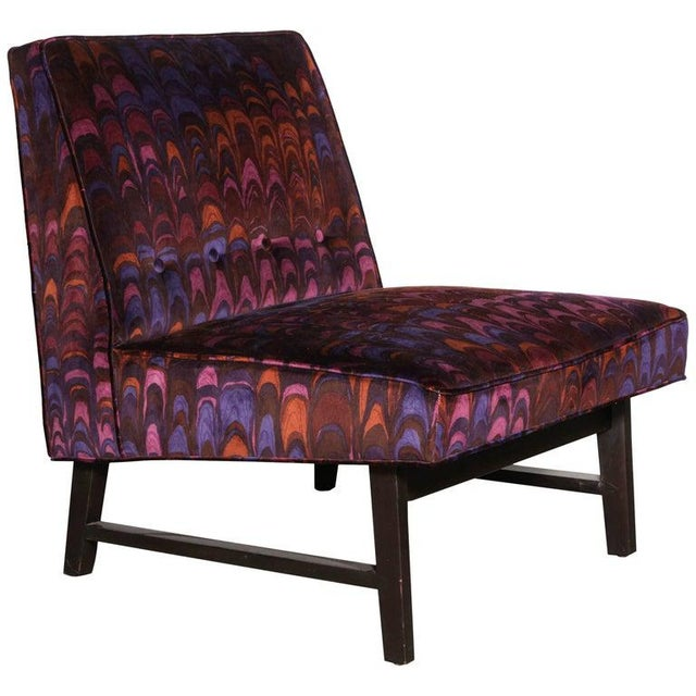 Pink 1950s Vintage Edward Wormley for Dunbar Lounge Chair For Sale - Image 8 of 8