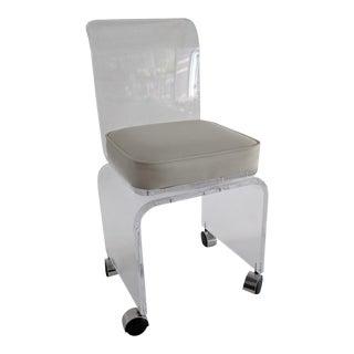 Lucite Vanity Swivel Stool / Chair