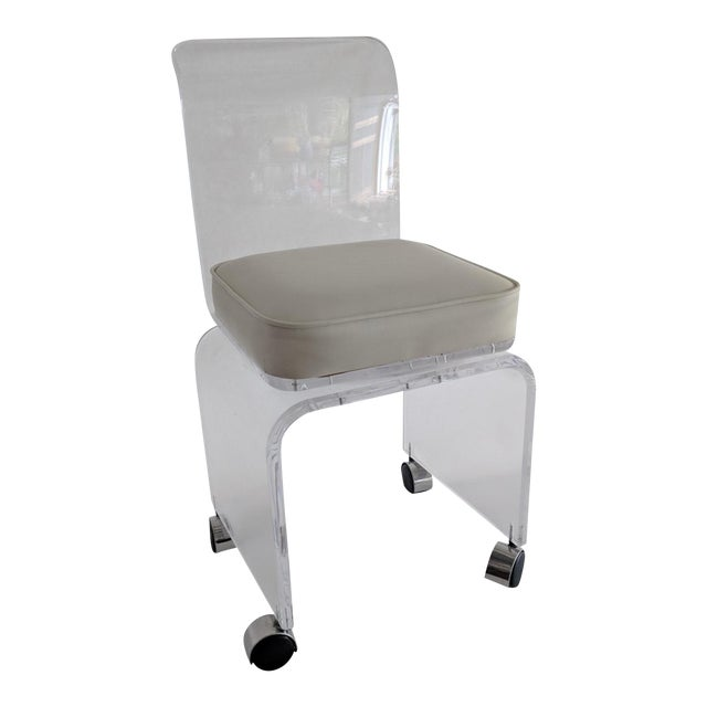 Lucite Vanity Swivel Stool / Chair - Image 1 of 8