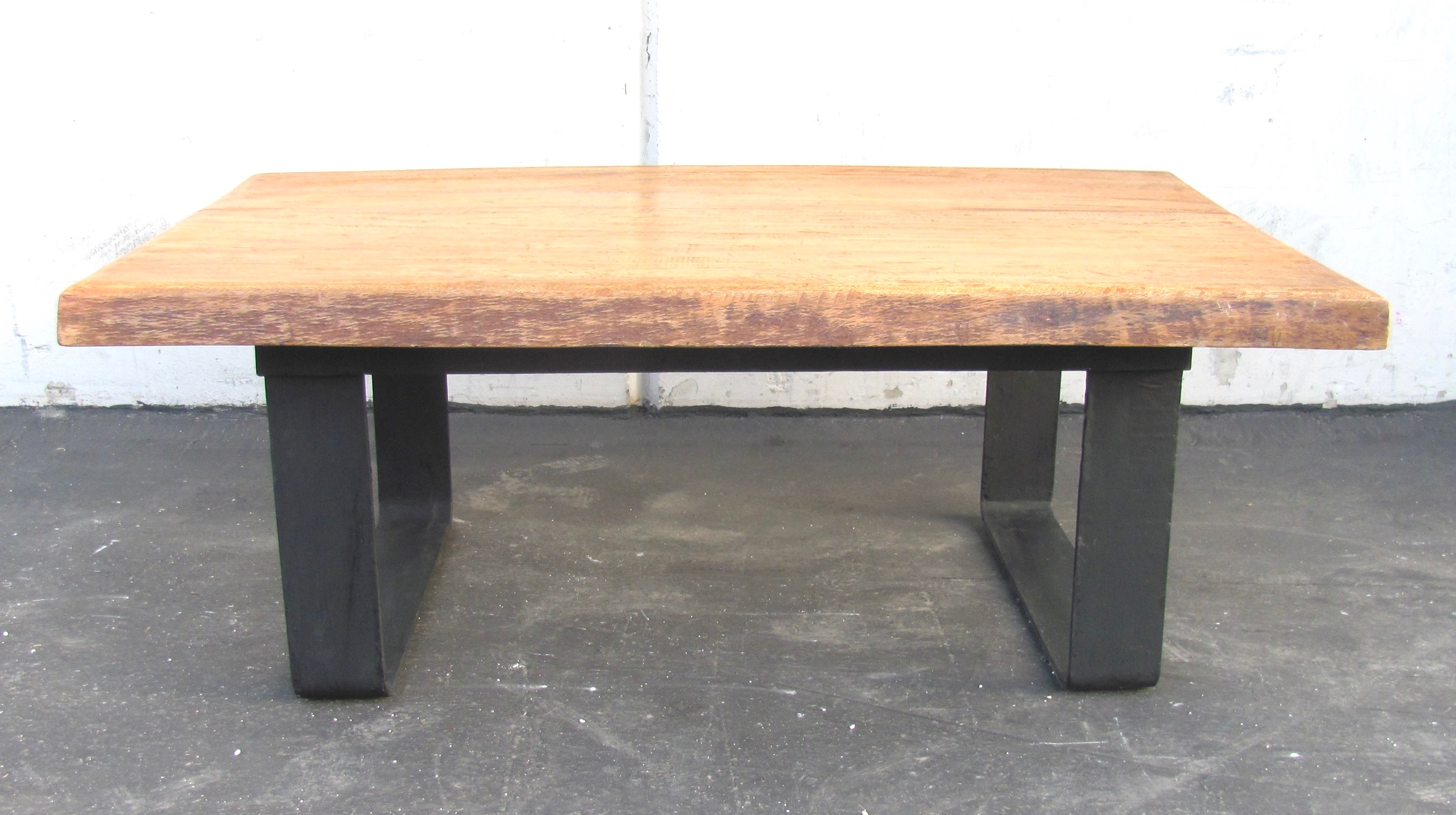 ... Coffee Table For Sale. Gorgeous Use Of Natural Cut Of Wood Slab. This Minimalist  Modern Style Of The Black