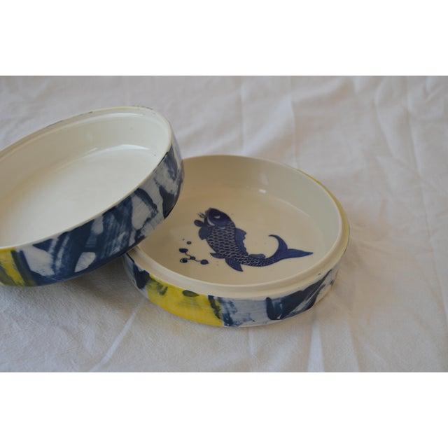 Asian Contemporary Ceramic Green Dragon Box For Sale - Image 3 of 5