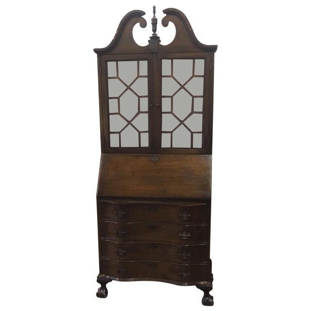 Antique Mahogany Drop Front Secretary Desk - Antique Mahogany Drop Front Secretary Desk Chairish
