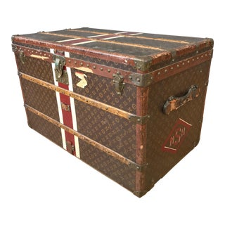 1950s Louis Vuitton Monogram Lady's Steamer Trunk For Sale
