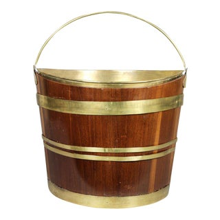 George III Mahogany and Brass Bound Bucket For Sale