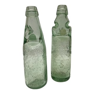 English Ginger Beer Bottles - A Pair For Sale