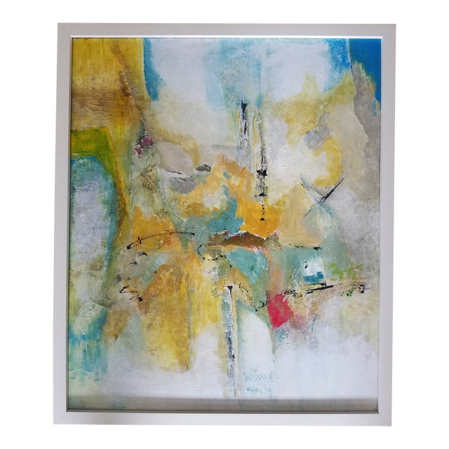 Abstract Acrylic Painting by Rene Bou For Sale