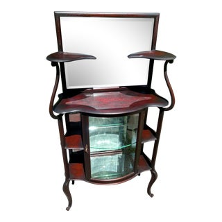 Early 20th Century Art Nouveau Mahogany Etagere For Sale