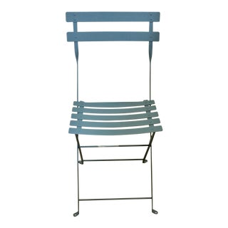 Fermob Bistro Blue Chair For Sale