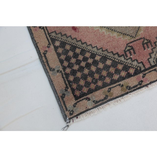1960s Vintage Turkish Handmade Rug - 1′7″ × 2′9″ For Sale - Image 10 of 11