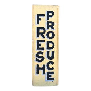 1970s Vintage Folk Made Trade Sign For Sale