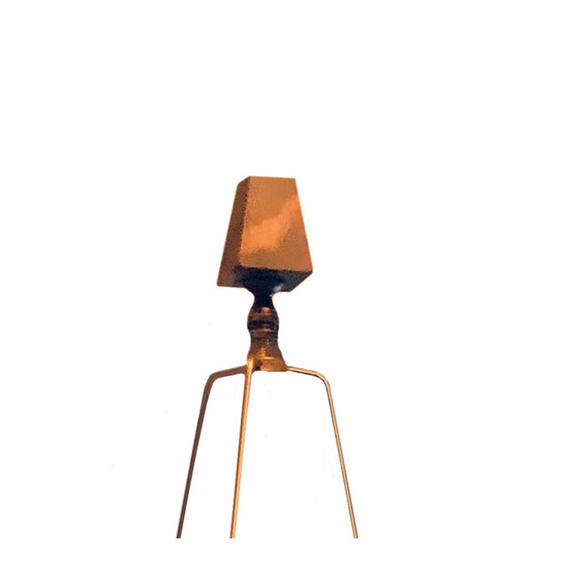 Metal Mid Century Brass Lamps - a Pair For Sale - Image 7 of 8