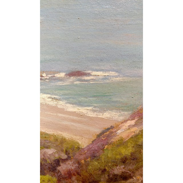 Charles L A Smith-Point Dume,Malibu c.1920s-California impressionist-Oil Painting For Sale In Los Angeles - Image 6 of 10