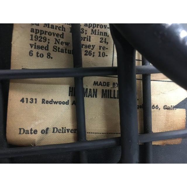Metal Vintage Black on Black D K R Bikini Chair by Charles Eames for Herman Miller For Sale - Image 7 of 12