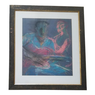 Contemporary Barbara Yeterian Guitar Player Drawing For Sale