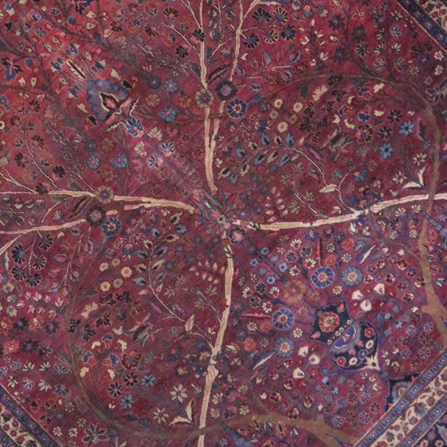 Captivating Antique Persian Mashhad Gallery Rug in Jewel Tone Colors For Sale - Image 4 of 10