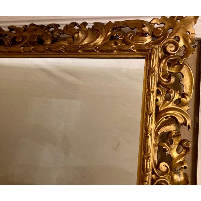 Gilt Gesso Decorated Carved Wall / Console Mirror, Italian For Sale - Image 4 of 9