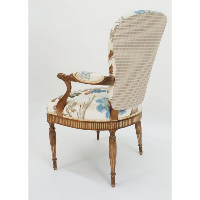 Hollywood Regency Adam Style Armchair For Sale - Image 3 of 6