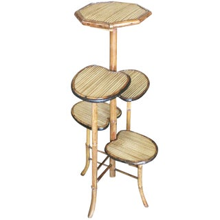 "Bamboo ""Lily Pad"" Five-Tier Pedestal Floor Stand For Sale"