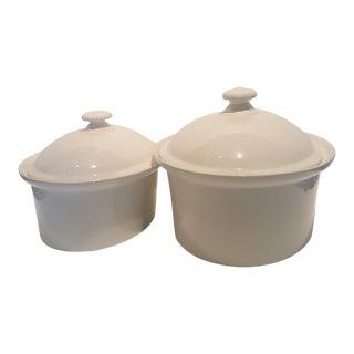 Arabia Finland Porcelain Baking Dish Set - 2 Pieces For Sale
