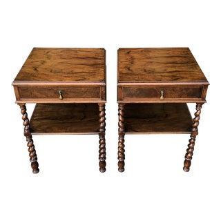 Pair of Antique Rosewood Nightstands or Side Tables For Sale