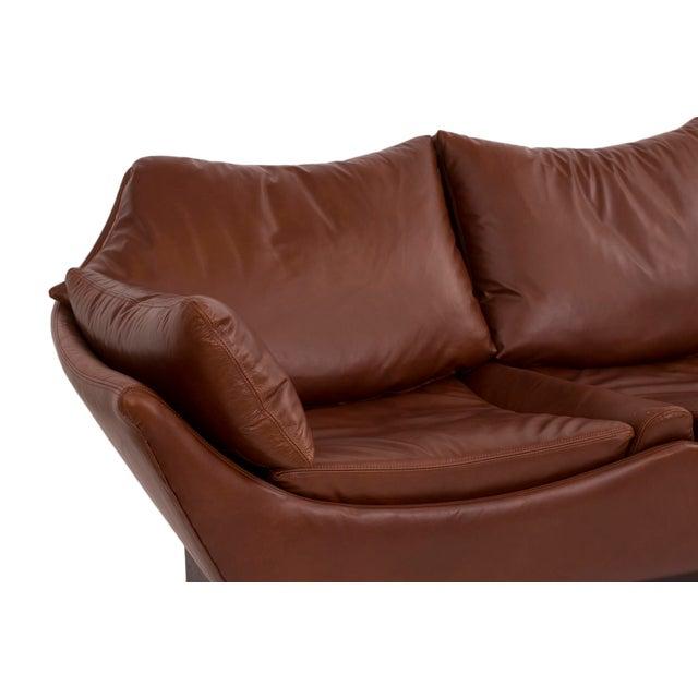 Phenomenal Danish Leather Sofa - Image 3 of 6