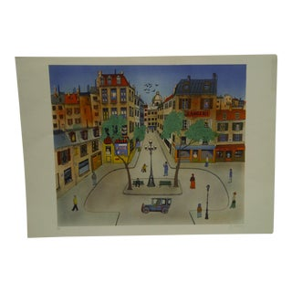 """Limited Edition """"Town Square"""" Signed Artists Proof Print by E. Delvoy"""