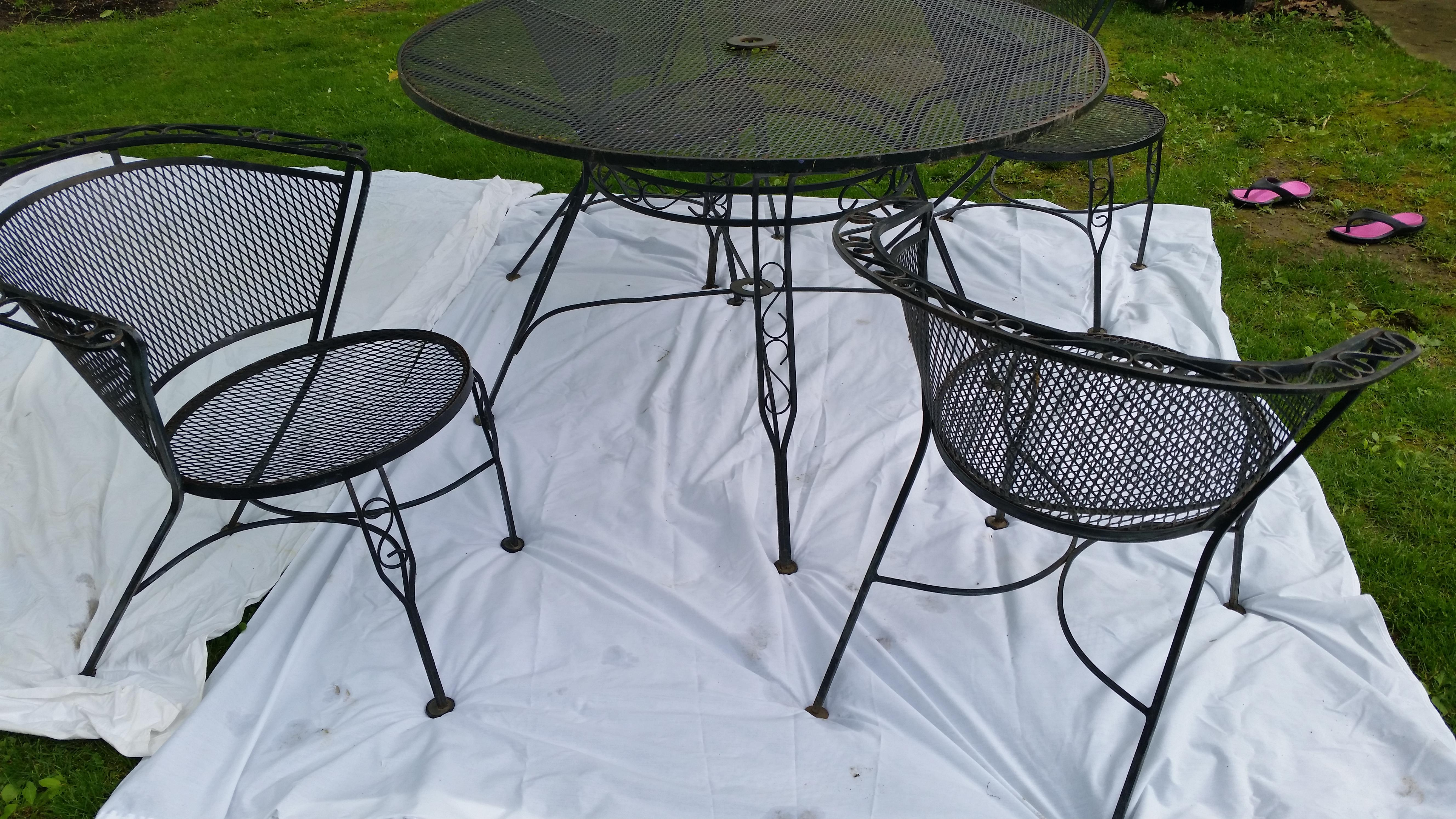 Ordinaire Mid Century Modern Arthur Umanoff Wrought Iron Patio Set For Sale   Image 3  Of