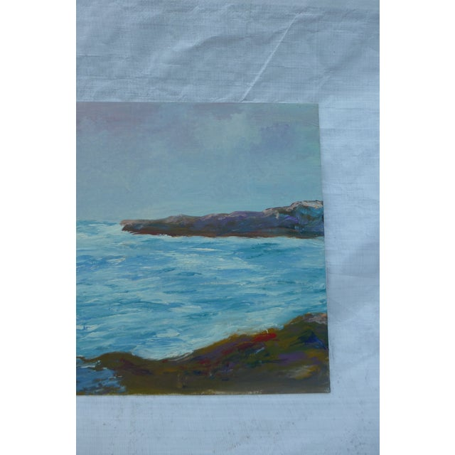 """Mid Century Painting """"Stormy Ocean,"""" H.L. Musgrave - Image 5 of 6"""
